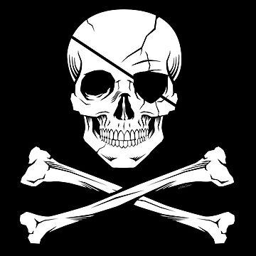 Pirate skull by NanoBarbero