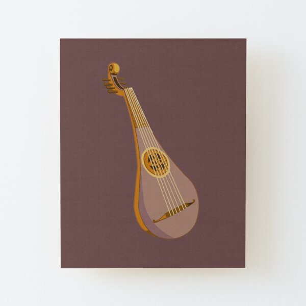 Epic Lute Wood Mounted Print
