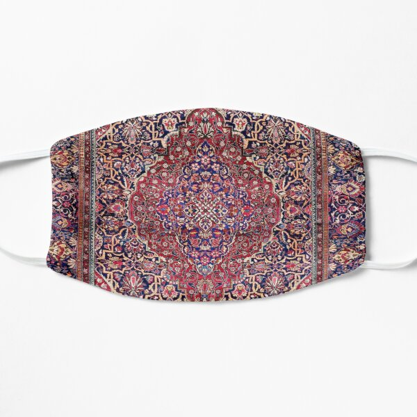 Kashan Central Persian Silk Rug Print Mask