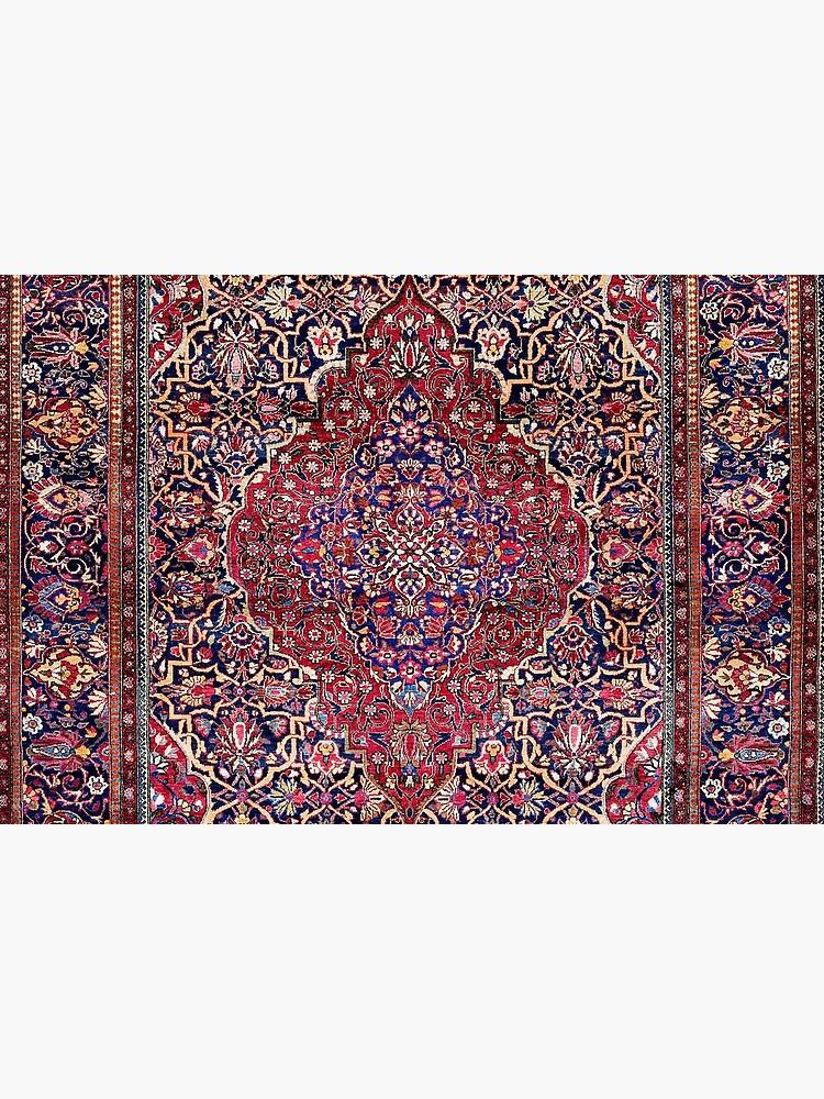 Kashan Central Persian Silk Rug Print by bragova