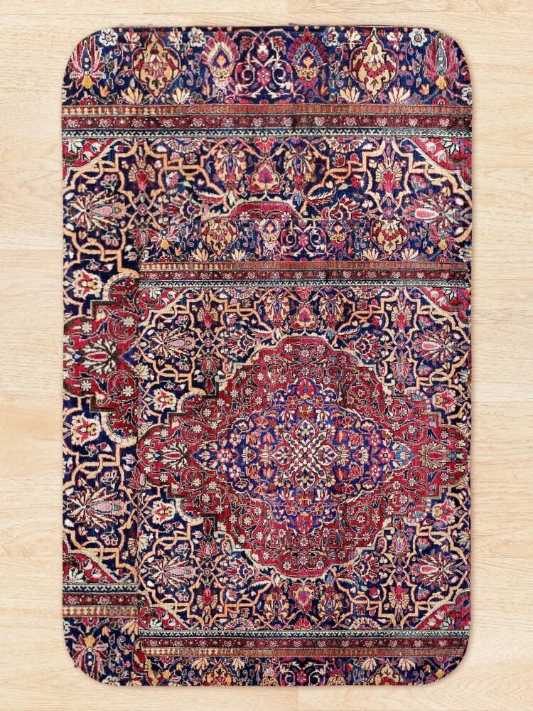 Alternate view of Kashan Central Persian Silk Rug Print Bath Mat