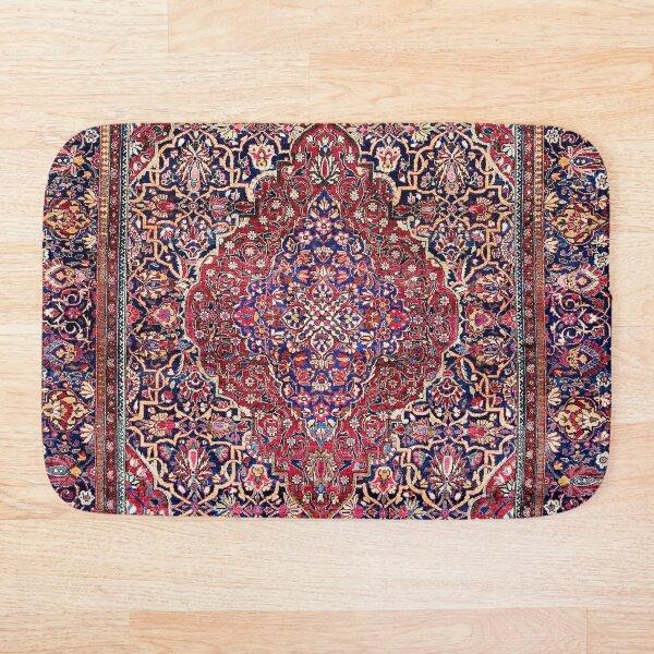 Kashan Central Persian Silk Rug Print Bath Mat