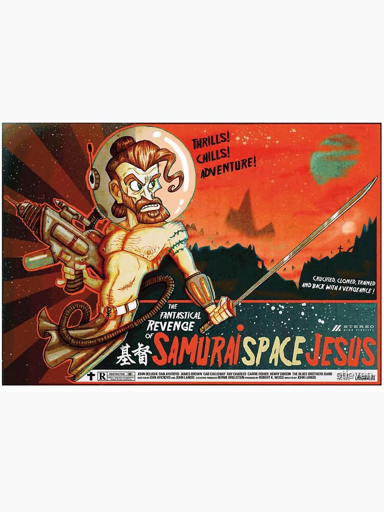 Samurai Space Jesus by stieven