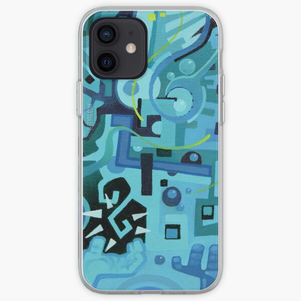 Held Gently in Blue - Abstract Acrylic Canvas Painting - END iPhone Soft Case