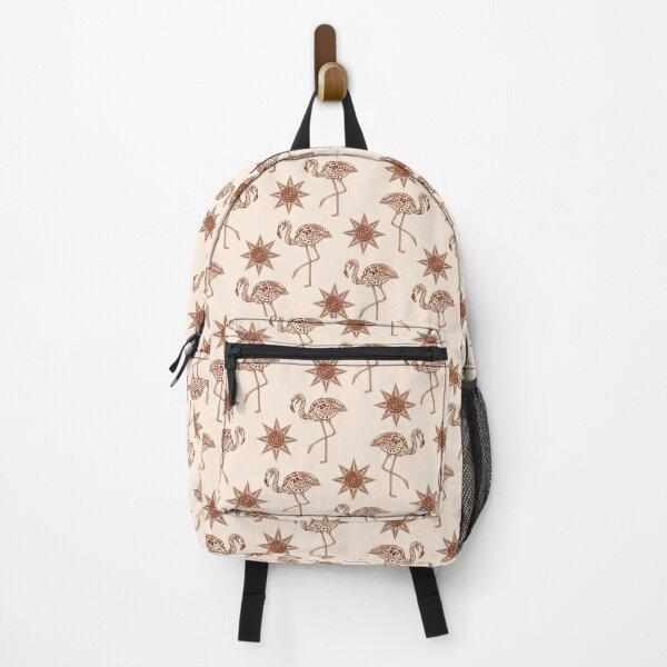 Warm Tribal Flamingo Pattern Backpack