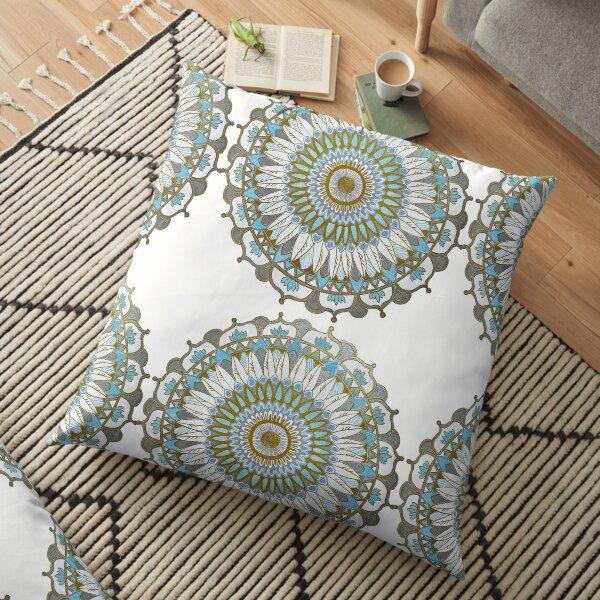 Mandala Gold Floor Pillow