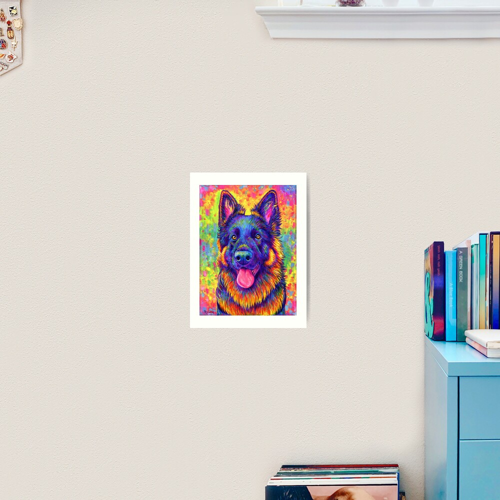 Luminescent - Psychedelic German Shepherd Dog Art Print