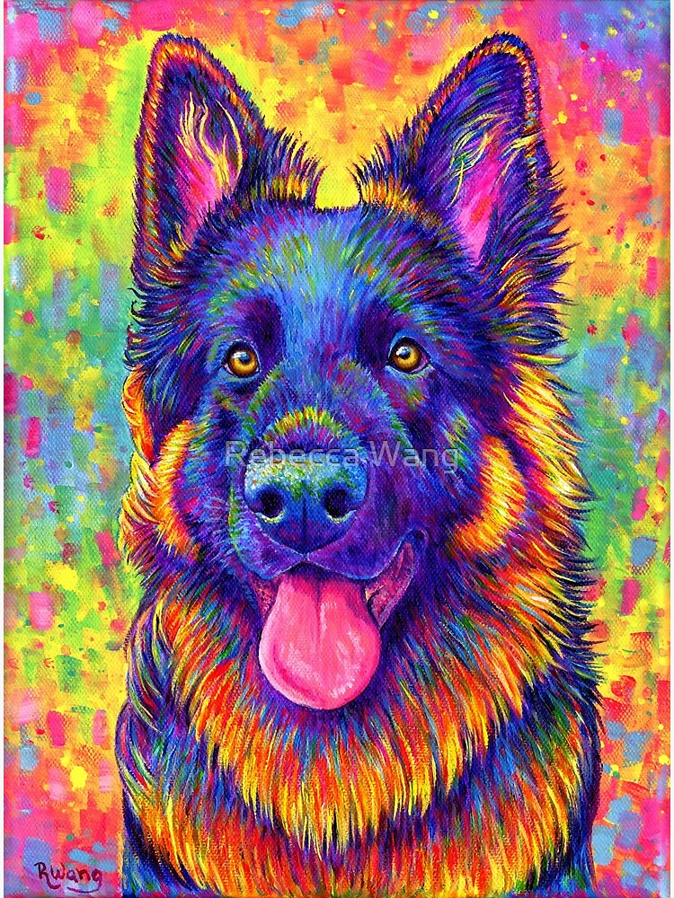 Luminescent - Psychedelic German Shepherd Dog by lioncrusher