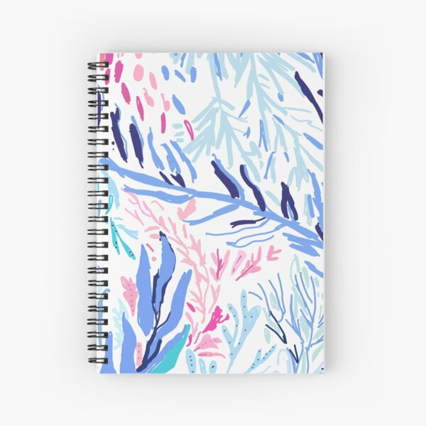 Lilly Pulitzer inspired Kaleidoscope Coral Spiral Notebook