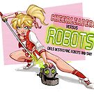 Cheerleaders versus Robots by stieven