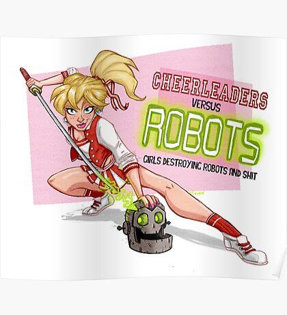 Cheerleaders versus Robots Poster