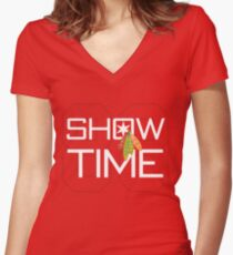 Show Time Women's Fitted V-Neck T-Shirt