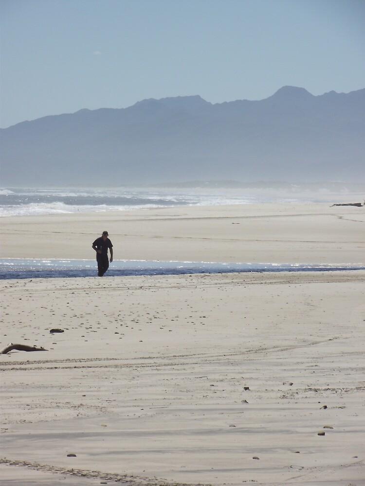 at Strahan's Ocean Beach - ambling along by gaylene