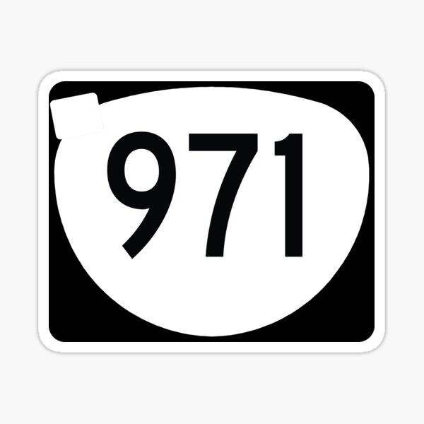 Oregon State Route 971 w. Oregon Graffiti - (Area Code 971) Sticker