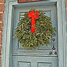 Plantation Office Door with Wreath by Jane Neill-Hancock