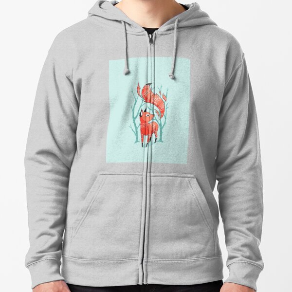 space foxes,animals,fox,foxes,space animals,stars,cute Zipped Hoodie