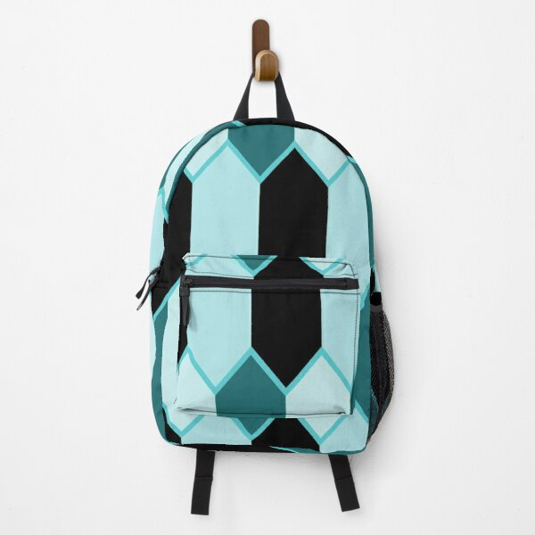 Hexagon - Teal and Black Glitter  Backpack