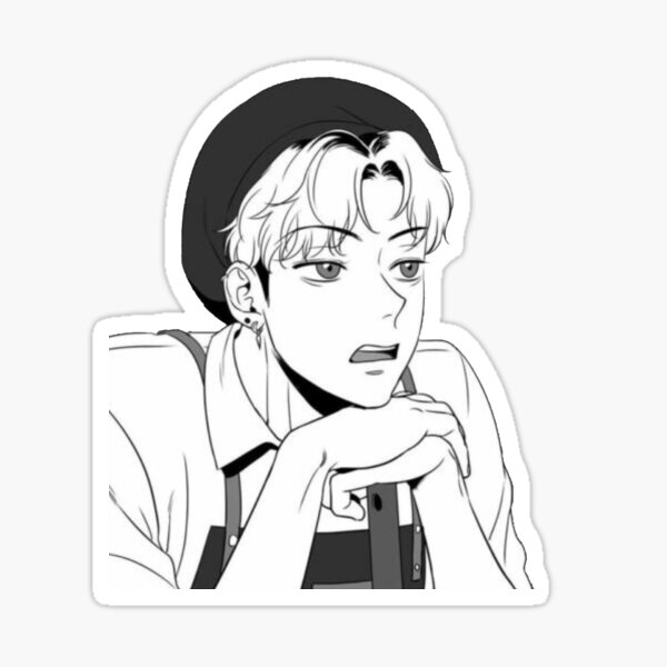 bj alex - chanwoo Sticker
