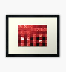 red abstract stripes Framed Print