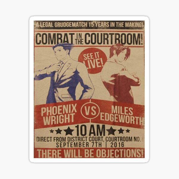 Ace Attorney - Combat in the Courtroom Sticker
