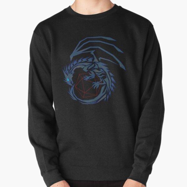 Blue Line Dragon  Pullover Sweatshirt