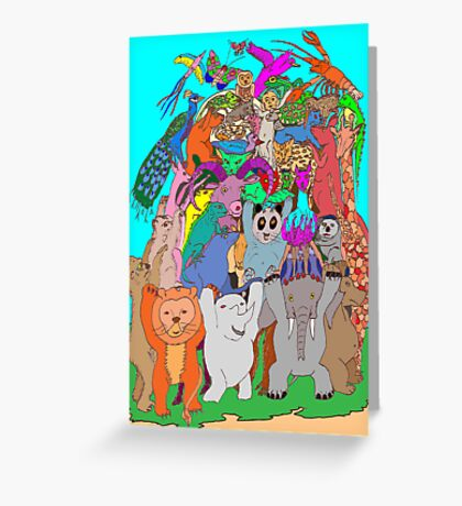 The Fauna Castle Greeting Card