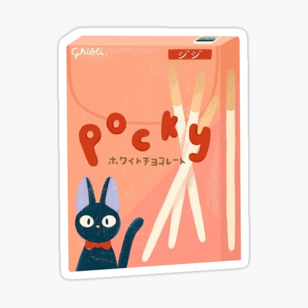 Pegatina Kiki Jiji Strawberry Pocky Pegatina