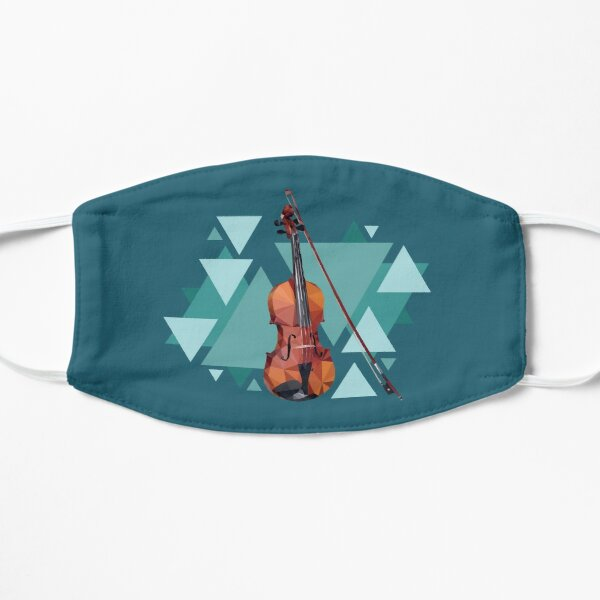 Vector Fiddle Violin Oldtime Music print Mask