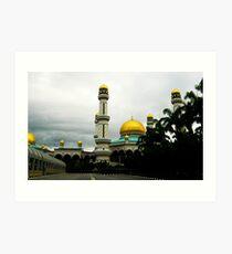 Jame'asr Hassanil Bolkiah Mosque, Brunei Art Print