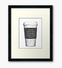 Beckett's Coffee Framed Print