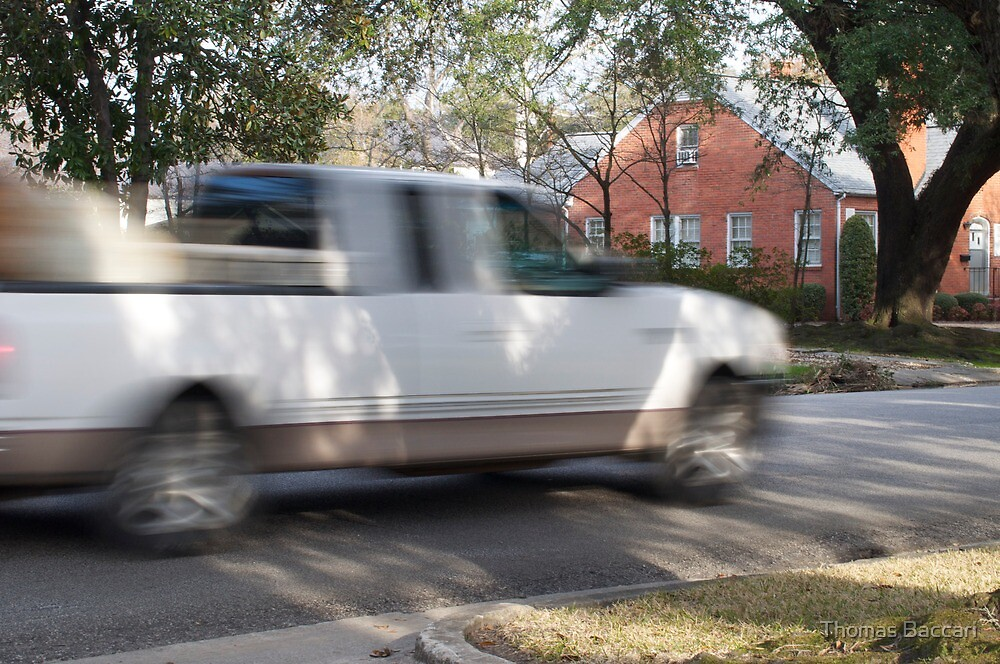 Pickup Truck In Motion by TJ Baccari Photography