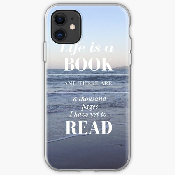 Life is a Book- Cassandra Clare- Beach iPhone Soft Case
