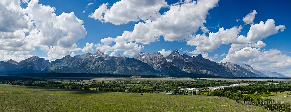 The Grand Tetons Panorama - Grand Teton National Park, Wyoming by Jason Heritage