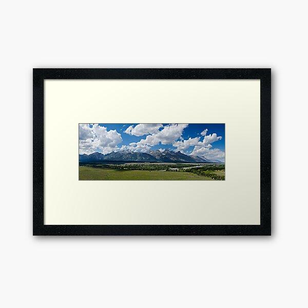 The Grand Tetons Panorama - Grand Teton National Park, Wyoming Framed Art Print