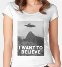 Want2Believe (Machu Picchu) Women's Fitted Scoop T-Shirt