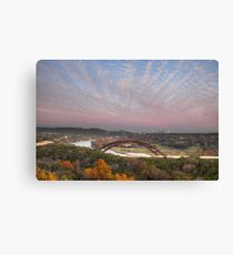 November Sunset over Pennybacker Bridge 2, Austin Texas Canvas Print