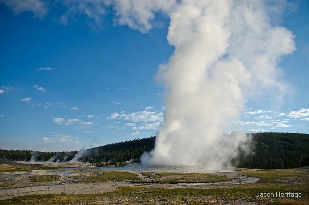 Old Faithful - Yellowstone National Park, Wyoming by Jason Heritage