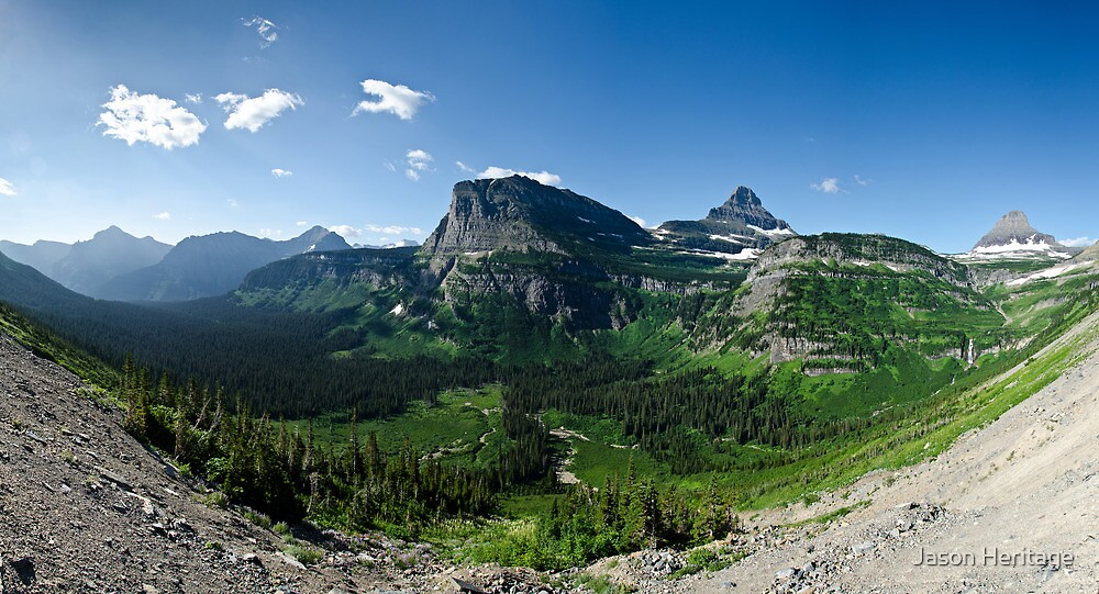 Heavy Runner Mountain - Glacier National Park, Montana by Jason Heritage