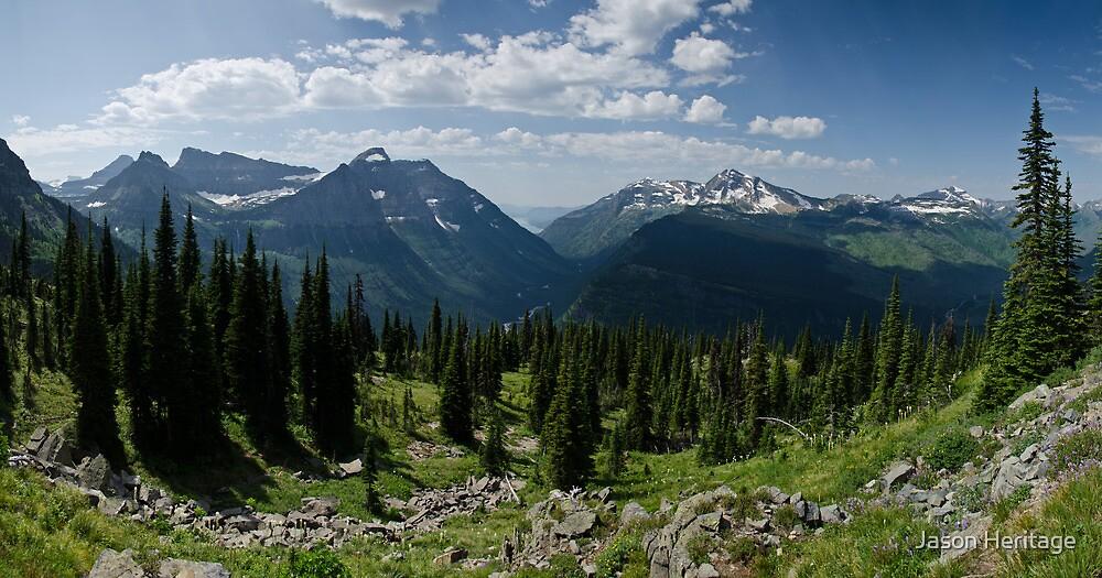 Highline Trail Panorama.2 - Glacier National Park, Montana by Jason Heritage