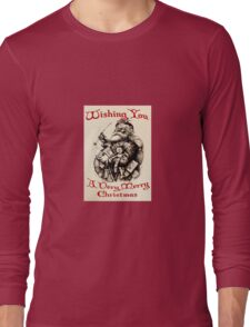 Vintage Santa Wishing You A Very Merry Christmas T-Shirt