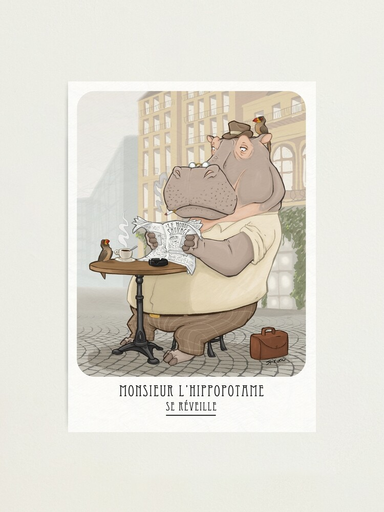 Alternate view of Mr. L'Hippopotame Photographic Print