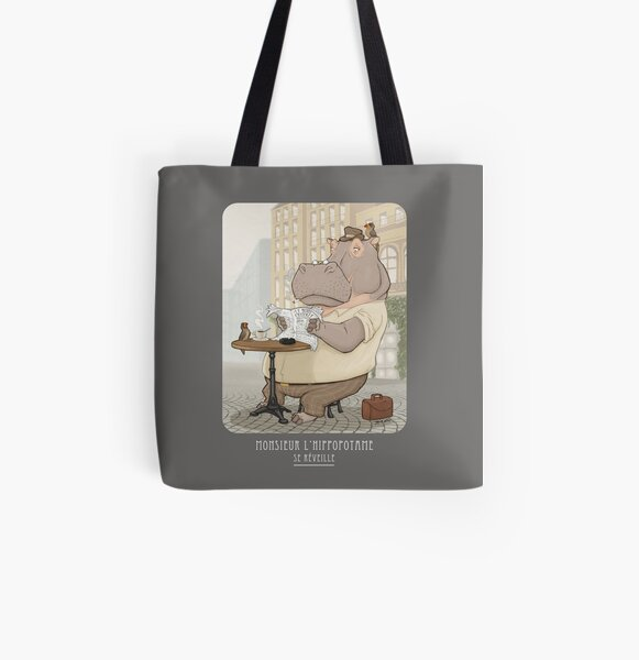 Mr. L'Hippopotame All Over Print Tote Bag