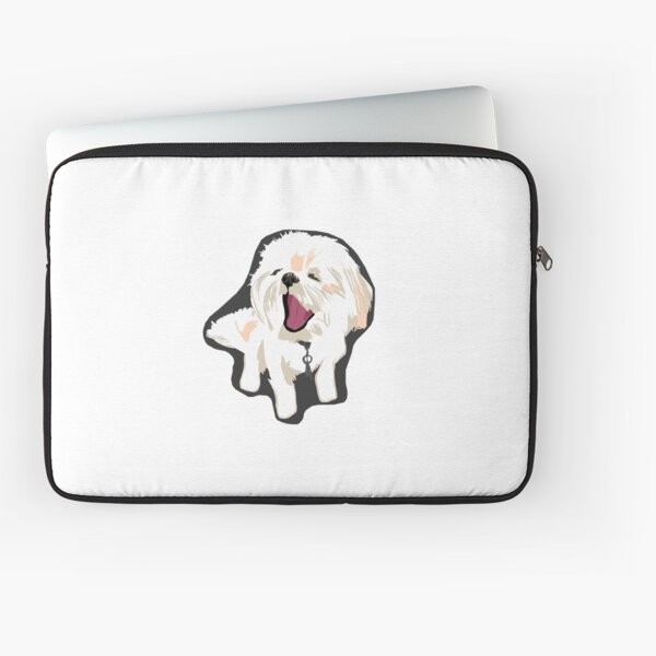 Shih Tzu Puppy Yawning Laptop Sleeve