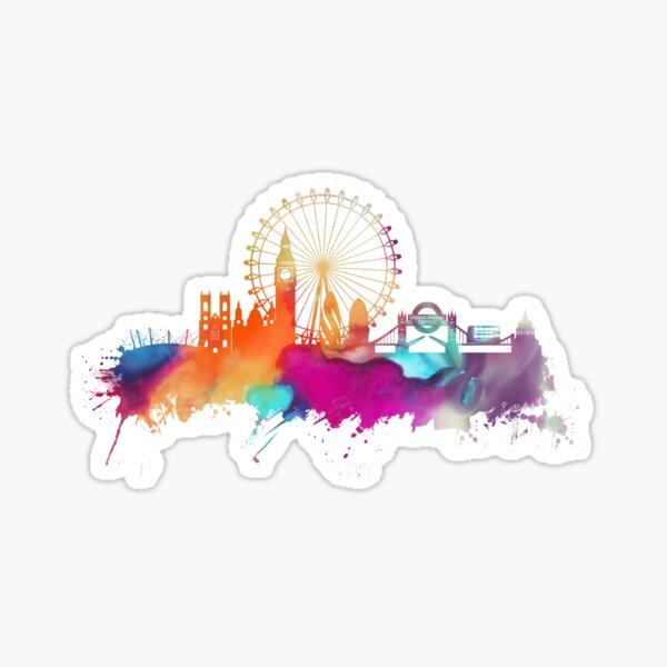 London skyline watercolor Sticker