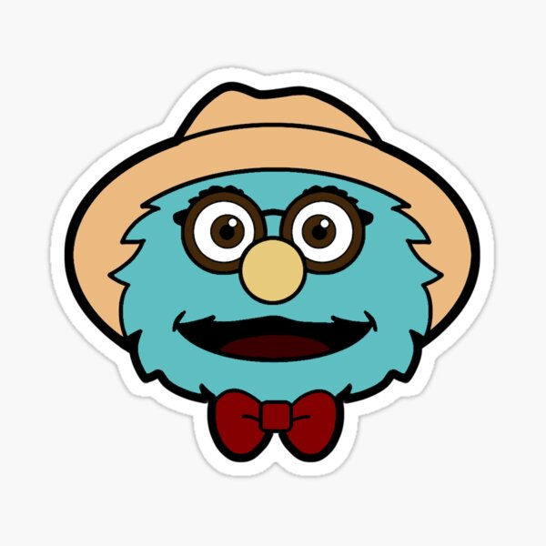 Watcher Entertainment Puppet History The Professor Face Sticker Sticker
