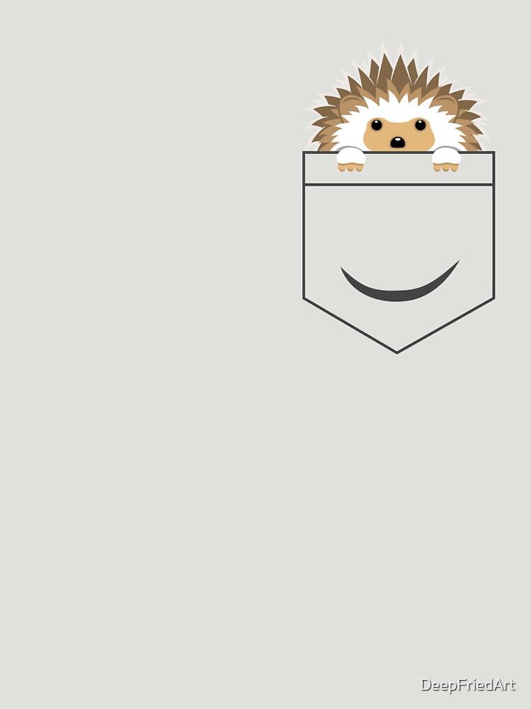 Hedgehog in your pocket! by DeepFriedArt