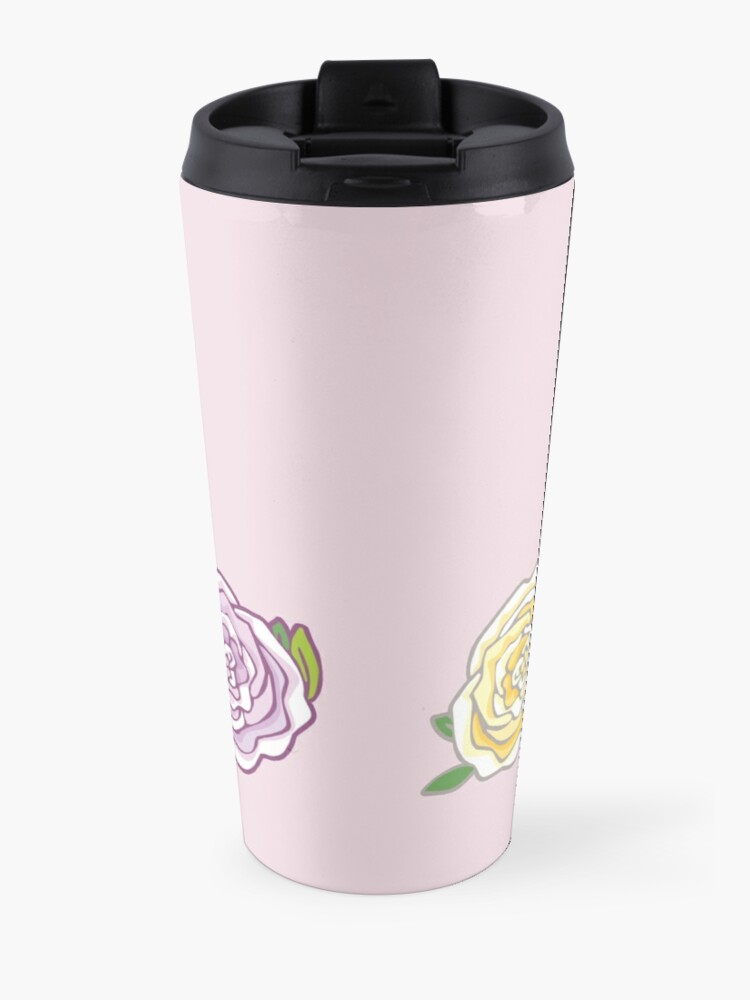 Alternate view of Decorative Roses Travel Mug