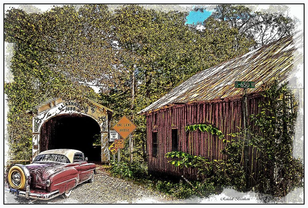 BACK IN TIME  old cars old barns old bridges by Randy Branham