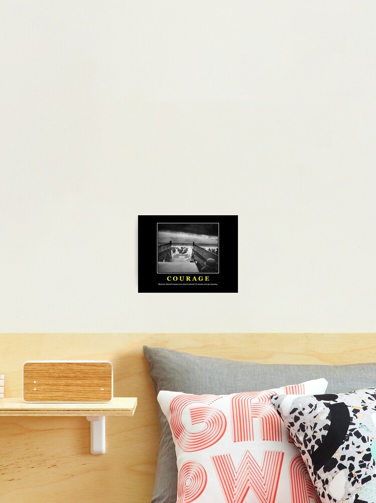 Courage D Day Poster Photographic Print By Warishellstore Redbubble