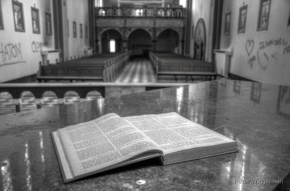 Behind the altar by Peter Wiggerman